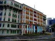 Just a random colourful building near Clarke Quay