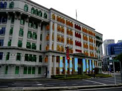 Just a random colourful building near Clarke Quay