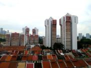 Looking over the roof tops of Little India