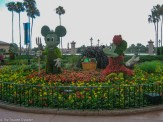 Perfectly shaped hedges at Epcot - Guide to the Orlando Theme Parks - The Trusted Traveller