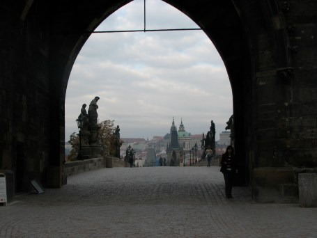 Charles Bridge just after sunrise