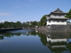 The moat around The Imperial Palace, Tokyo