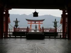 Itsukushima Shrine and the floating tori gate, Miyajima