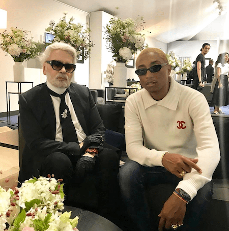 Pharrell Williams and friend