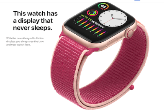 Always on Apple Watch Series 5