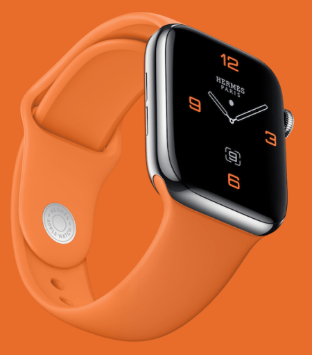 Organge is the new black for buyers of the steel Hermes Apple smartwatch