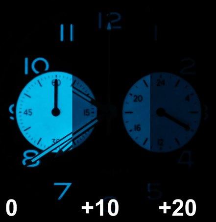Urban TYPE XX Chronograph lume fade