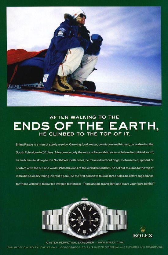 Rolex Explorer ad