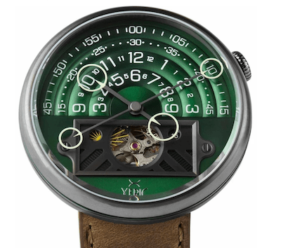 Xeric Halograph II Automatic Green Brown Limited Edition (courtesy watches.com)