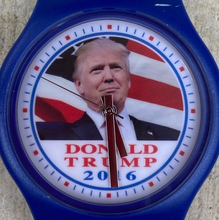 Donald Trump watch close -up