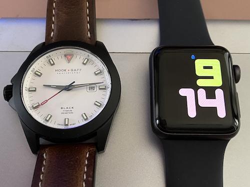 Traditional Watch vs. A Smart Watch: Hook + Graff vs. Apple Watch 4