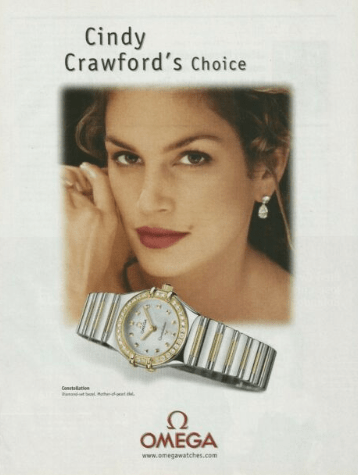Cindy Crawford OMEGA Constellation