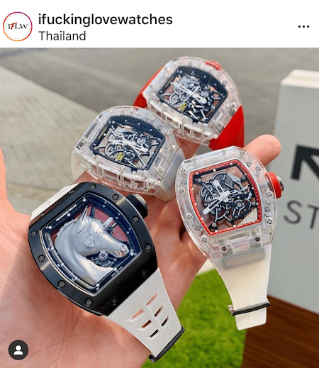 Four Richard Mille watches
