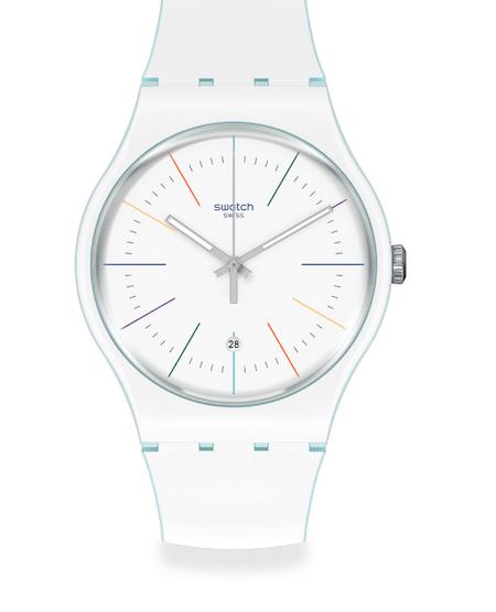 New watch alert! SWATCH WHITE LAYERED