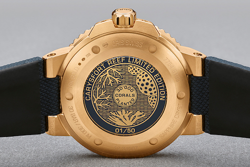 Oris Craysfort Reef case back for aBlogtoWatch