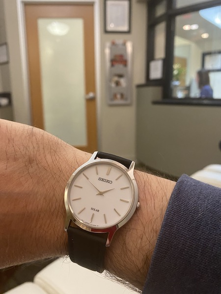 Seiko Solar in the waiting room