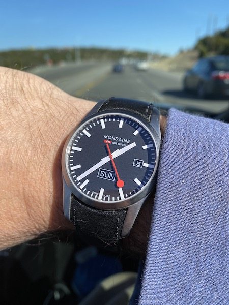 Swiss watch on the road