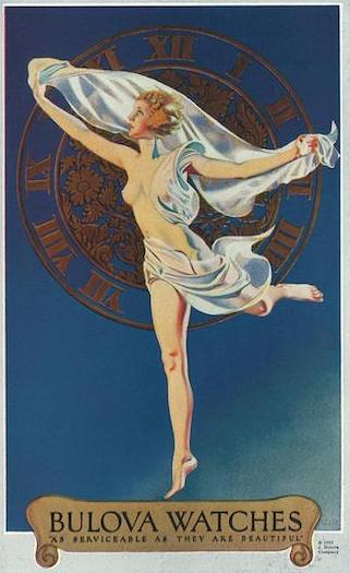 1922 Bulova naked woman ad (courtesy mybulova.com)