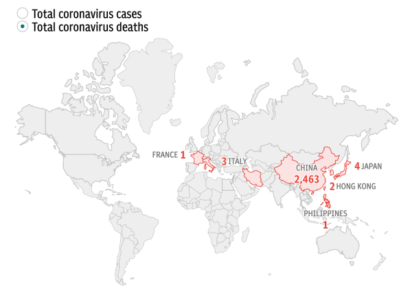 Coronavirus deaths worldwide