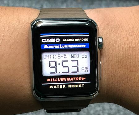 Fake Casio on Apple Watch