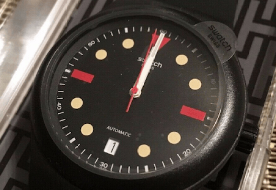 Swatch Sistem51 Hodinkee close up