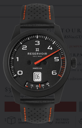 One hand watch: the Reservoir GT TOUR 371 SE