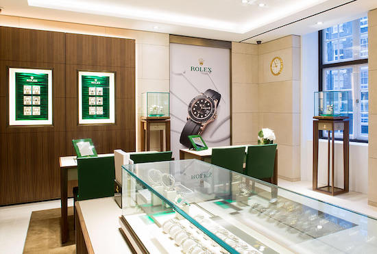 Watches of Switzerland Rolex sales boutique
