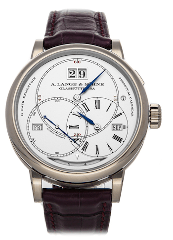 Grail watch: A. Lange & Sohne Richard Lange Perpetual Calendar Terraluna ($135,500) (courtesy watchbox.com)