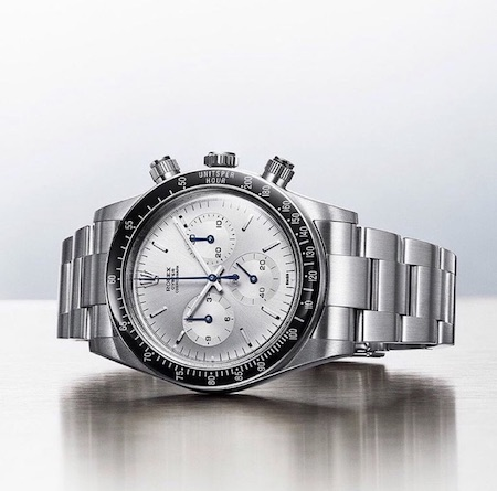 Fake Rolex on its side