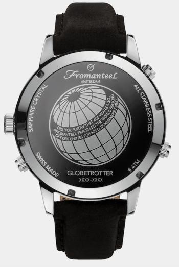 Fromanteel Globetrotter Moonphase Panda caseback