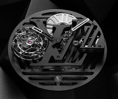 Louis Vuitton Tambour Curve Flying Tourbillon Poinçon de Genève movement