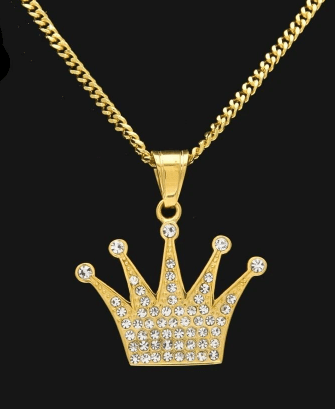Rolex watches crown pendant (courtesy shopicydrip.com)