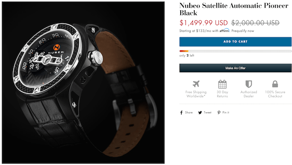 watches.com ad for Nubeo