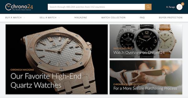 Chrono24 watch market