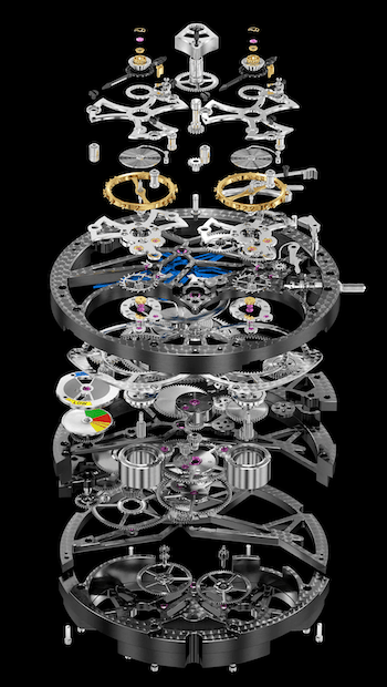New watch alert: Roger Dubuis Excalibur Pirelli Ice Zero 2 Double Flying Tourbillon movement