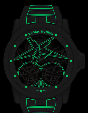 New watch alert! Roger Dubuis Excalibur Twofold lume shot