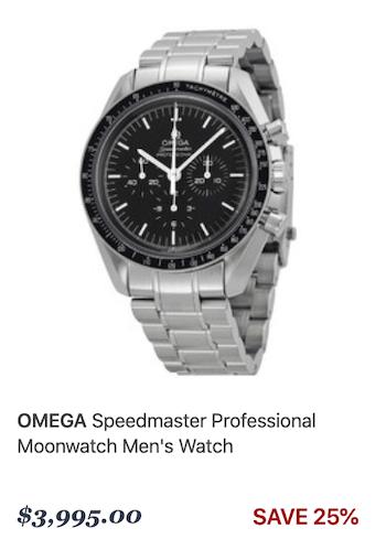 OMEGA Moonwatch at watch dealer jomashop.com