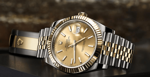 Rolex Datejust at rest