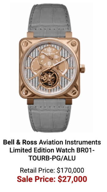 Authentic watches B&R discount