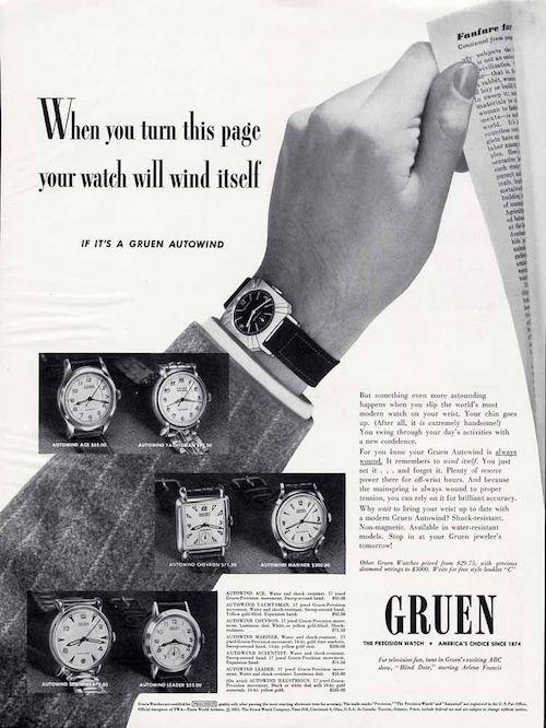 Gruen ad