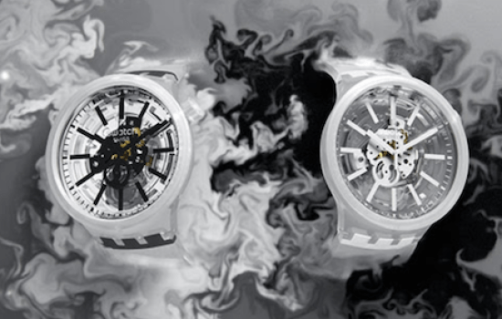 NEW WATCH ALERT SWATCH BLACKINJELLY and WHITEINJELLY