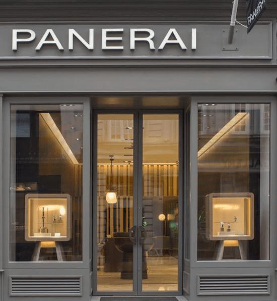 Panerai London boutique - Richemont brand