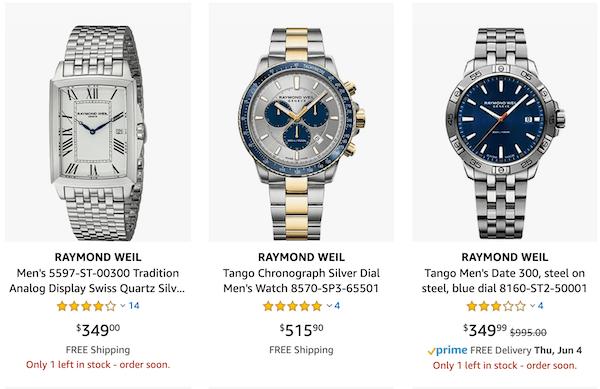 Raymond Weil - watch industry downturn target