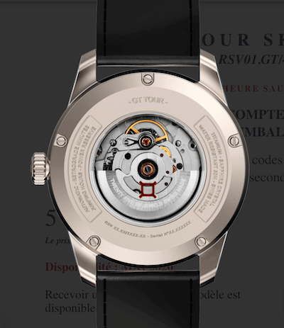 Reservoir GT Skeleton caseback