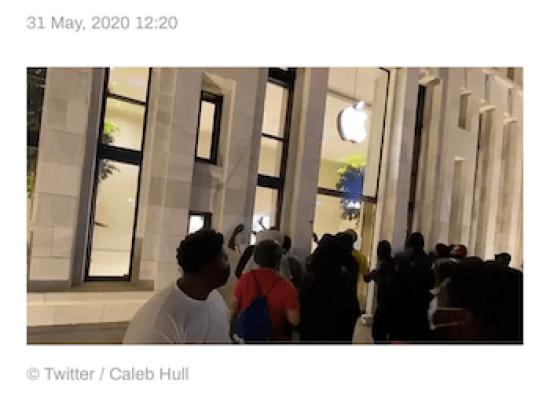 Apple Store looting DC
