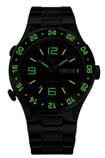 Ball Roadmaster GMT LE lume
