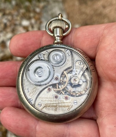 Bunn Special railroad pocket watch movement