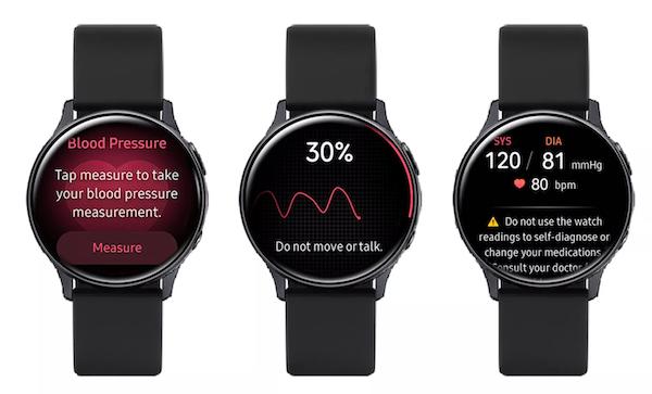 Galaxy 2 blood pressure monitoring