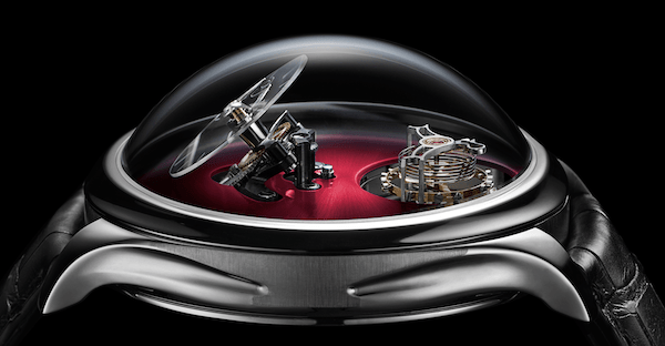 New watch alert! H. Moser & Cie. x MB&F Endeavour Cylindrical Tourbillon LE side on