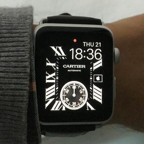 Cartier Apple Watch face - not Richemont